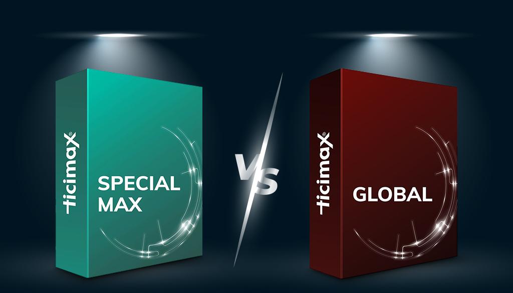 Ticimax Global Paket Ticimax Max Paket Karşılaştırması
