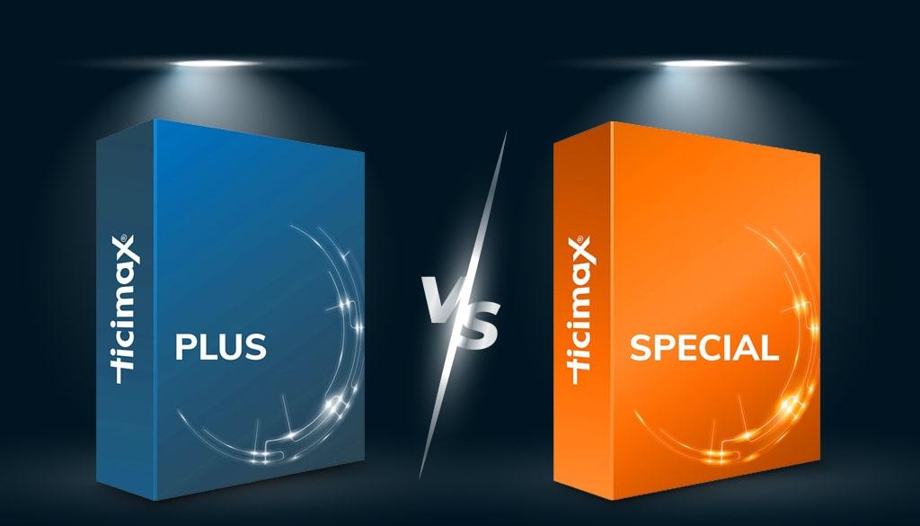 Ticimax Special Paket Ticimax Plus Paket Karşılaştırması