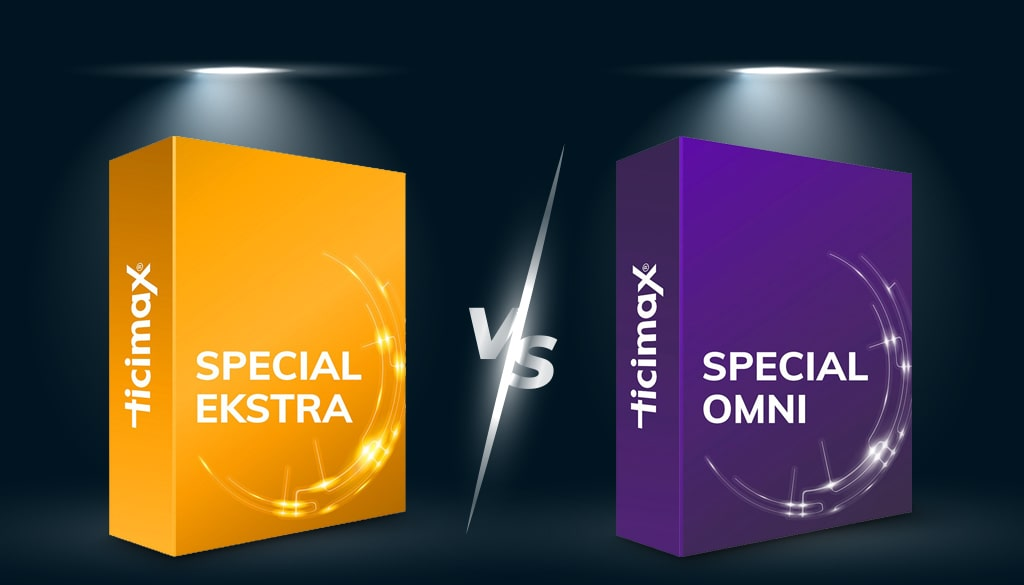Ticimax OMNİ Paket Special Extra Paket Karşılaştırması